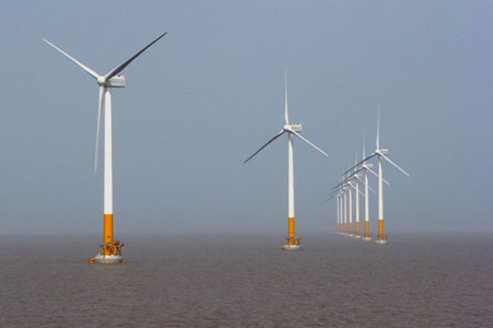 Sinovel 3MW offshore turbines