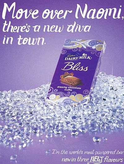 Cadbury has pulled a press ad created by Fallon after supermodel Naomi Campbell suggested it was an openly racist attack against her.