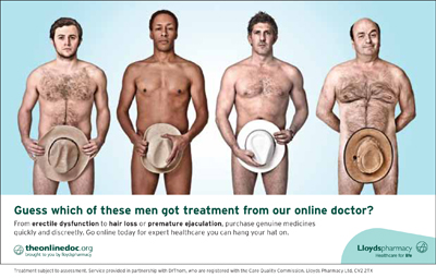 Lloydspharmacy's latest campaign highlights its available treatments and online help for men who suffer from penile dysfunction and premature ejaculation.