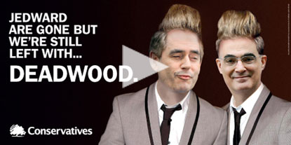 Tory Party Jedward poster