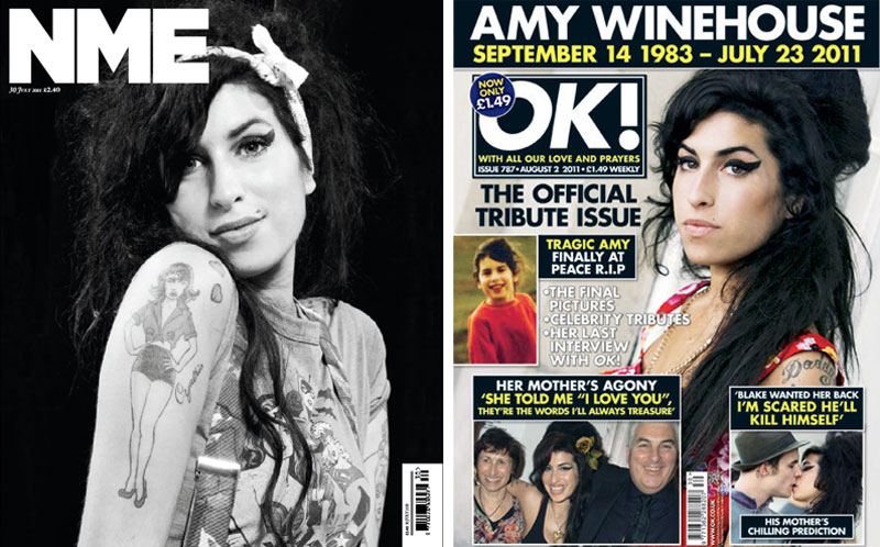 NME and OK! Magazine publish Amy Winehouse tribute editions