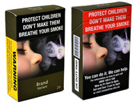 An example of plain packaging