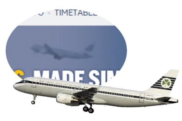 Aer Lingus plane appears in Ryanair ad