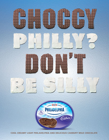 'Choccy Philly? Don't Be Silly' campaign