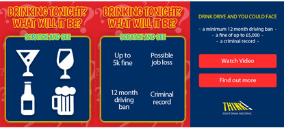 Government targets young men in pubs with drink-driving mobile message
