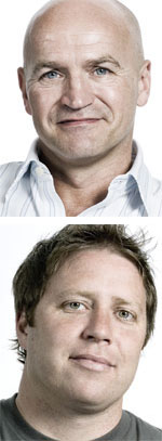 Ian Haworth, global chief creative officer at RAPP (top) and Adrian Whatman, design director, RAPP