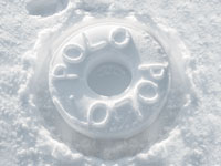Polo snow stamp