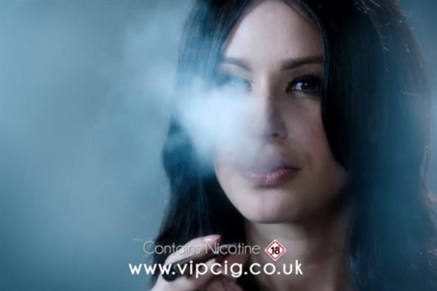 VIP's TV ad - the first in 50 years to feature someone smoking