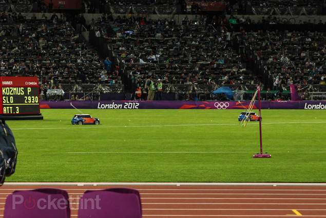 Mini remote control cars at the Olympic Stadium