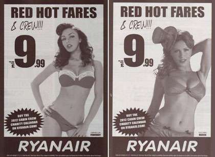 Ryanair's ads are banned by the ASA