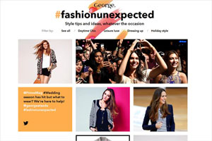 George #fashionunexpected site, by Hearst