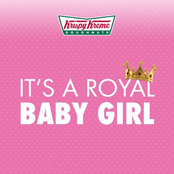 Krispy Kreme celebrates the arrival of Princess Charlotte
