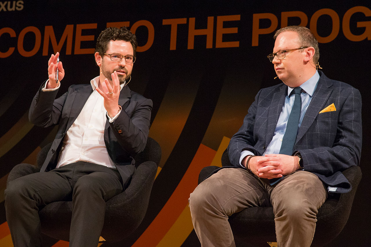 Huawei's Graham (left) and Monster's Warner cited data science's importance