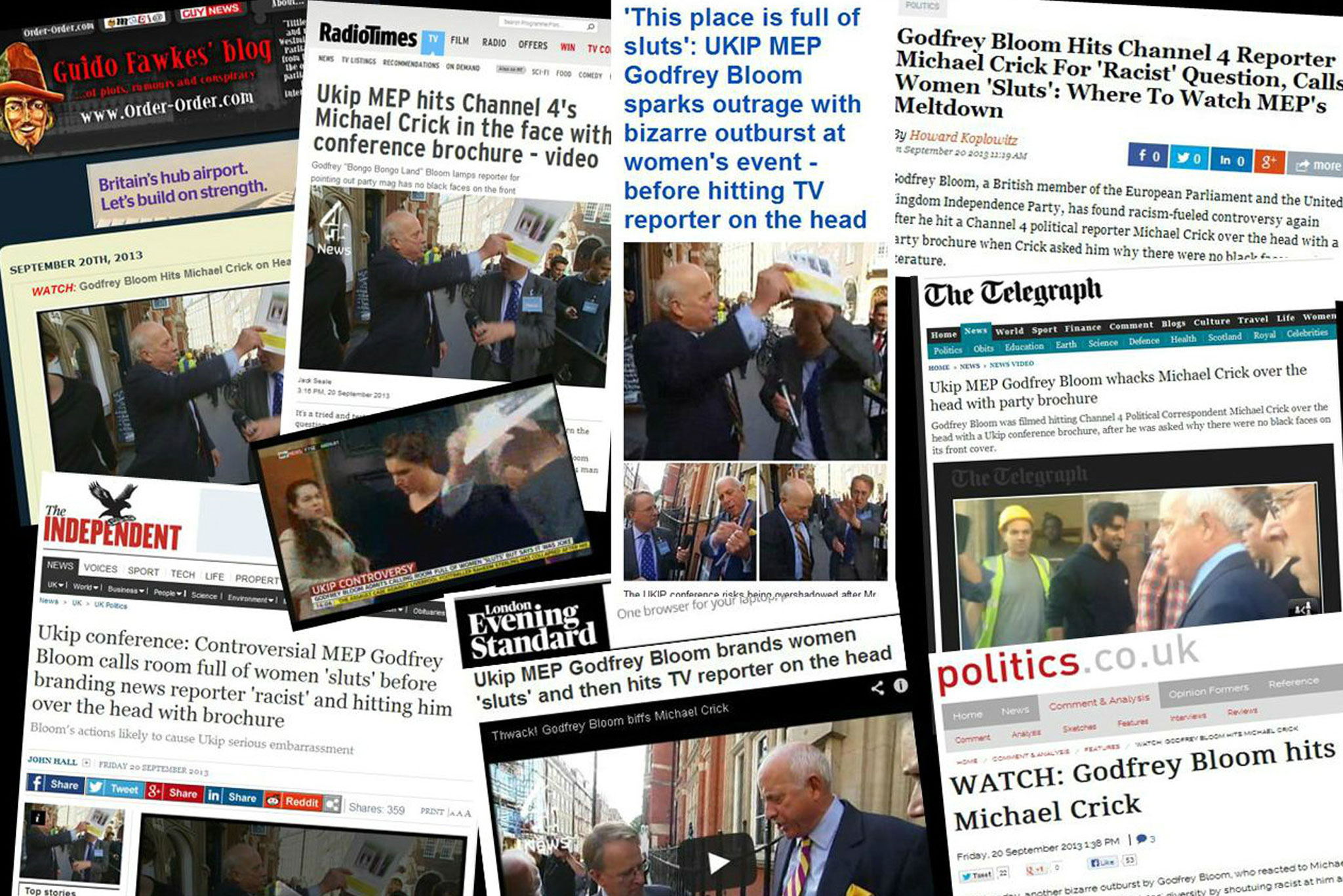 Media coverage of Michael Crick's work.