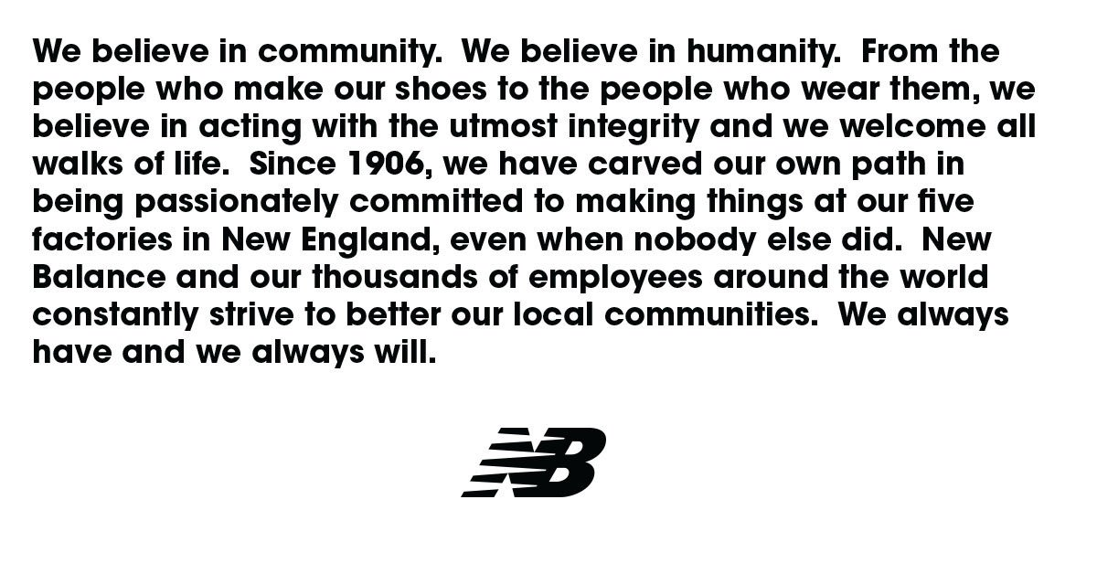 New balance statement