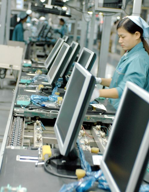 global multinationals outsource their manufacturing to factories like these in China