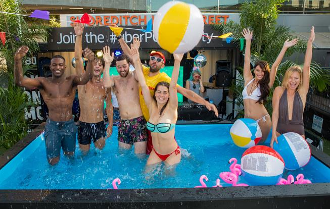 UberPool host rooftop pool party