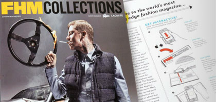 FHM Collections, Bauer Media's fully interactive magazine