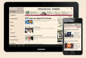 FT apps on tablet and smartphone