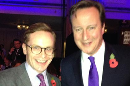 Rob Lynam and David Cameron