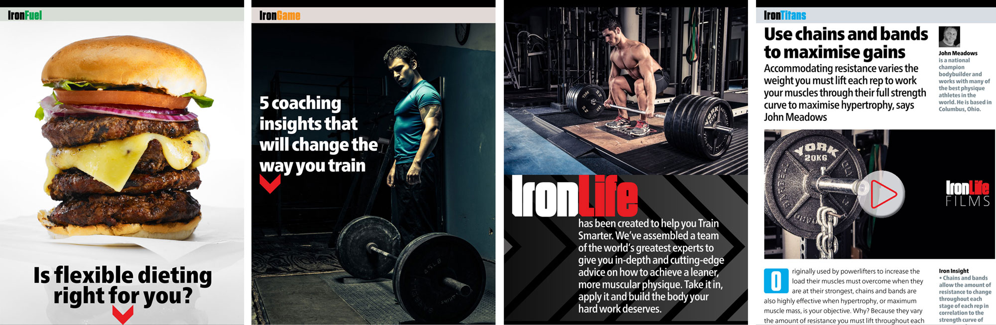 "IronLife: ""addresses the things that our users don't like about the current crop of fitness mags, such as questionable coverlines and inconsistent messages"""