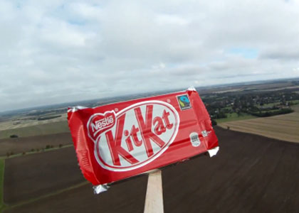 Nestl&eacute; sends KitKat into space for Felix Baumgartner: