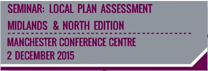 Local Plan Assessment Seminar