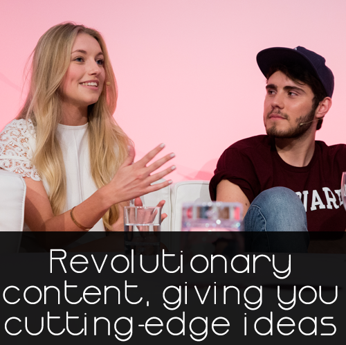 Revolutionary  content, giving you  cutting-edge ideas