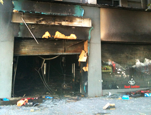 Shop below offices of Career Development Group was set on fire