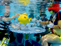 Marie Curie Cancer Care's underwater tea party