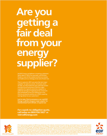 EDF launches 'fair deal' campaign