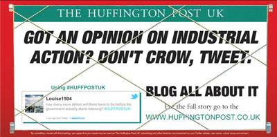 AOL is backing the UK launch of The Huffington Post with a major  marketing campaign centred around blogging.