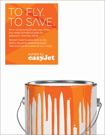 EasyJet mocks BA with 'To Fly. To Save.'