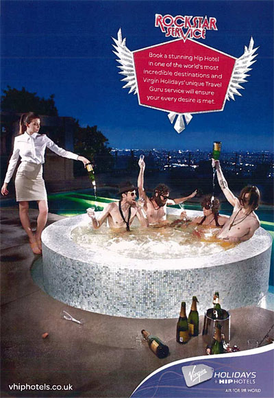 Champagne Jacuzzi earns Virgin Holidays ad ban