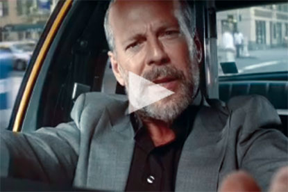 Bruce Willis in Aviva ad