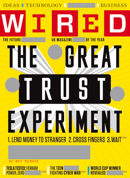 Wired June 2010 edition with scratch off cover feature