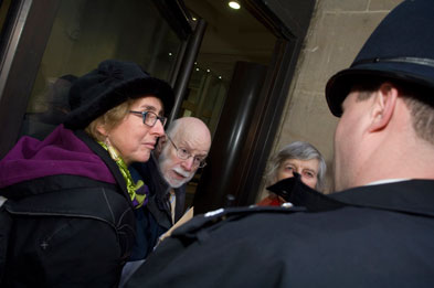 Dr Singer was prevented from entering Richmond House by four police officers