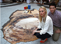 Camilla Dallerup and Kevin Sacre helped launch The Big Dig at Westfield.