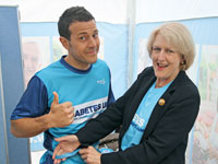 Lee Latchford Evans with Barbara Young