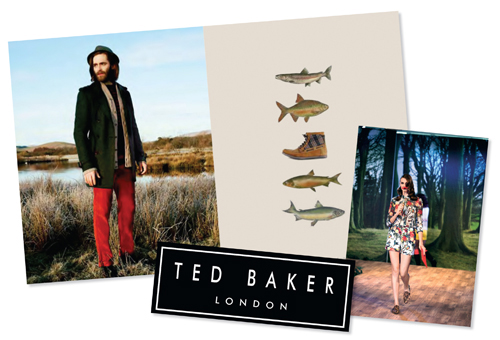 Ted Baker: used the assets from the launch in-store and online