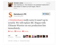 Sainsbury's reply tweet