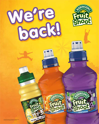 Robinson's Fruit Shoot returns with We're Back campaign