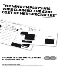 Specsavers MPs' expenses ad