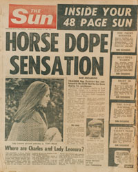 1st edition of The Sun tabloid