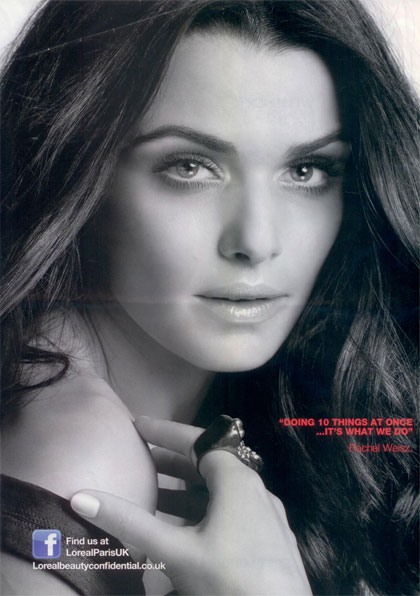 L'Oréal anti-wrinkle cream ad featuring Rachel Weisz