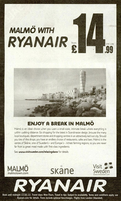 Ryanair 'cash passport' press ad is grounded
