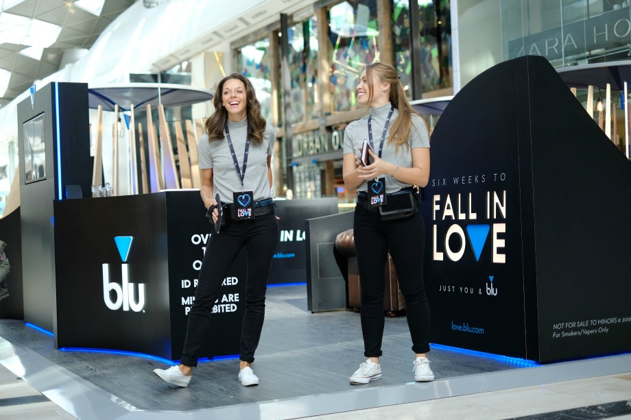Blu stages date-themed activation at Westfield shopping centre