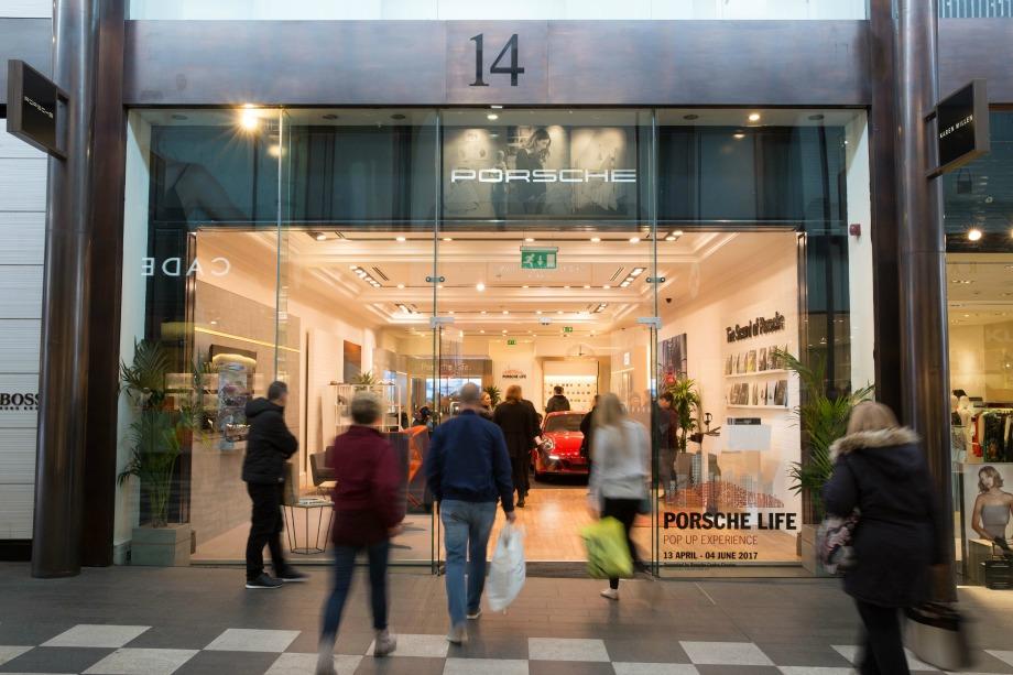 Porsche opens pop-up shop in Liverpool One