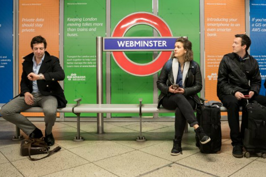 In pictures: Amazon's takeover of Westminster station