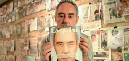 Esquire's scratch and sniff cover of el Bulli chef Ferran Adria